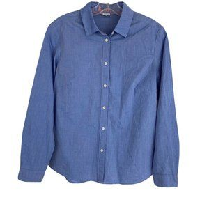 Boden Blue Button Up Long Sleeve The Classic Shirt